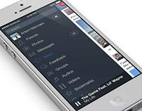 vk.com ios 7 app concept