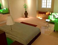 Skechup = Bedroom Rendering
