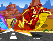 Road Runner vs The Flash