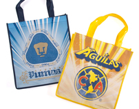 Mexican Soccer Tote Bags