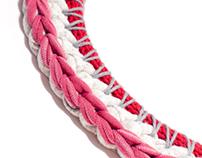 Knit jewelry.