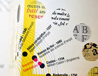 Typography exhibition brochure