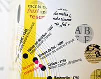 Typography exhibition brochure