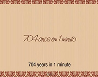 704 anos em 1 minuto - 704 years in 1 minute