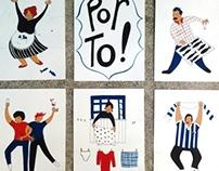 Porto tourism - Flyer + Postcards