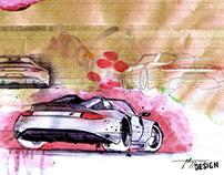 Porsche Design sketches