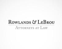 Rowlands & LeBrou Logo Ideation