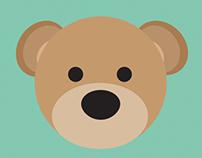 flat teddy bear face on behance