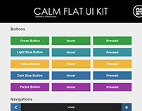Calm Flat UI Kit
