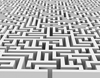 Entrance to a Maze or Labyrinth Puzzle - 2 Styles