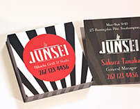 Junsei Square Silk Business Cards