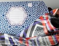 Fibre Culture - Digital printed scarfs on silk.