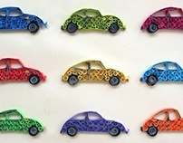 Experiments in Quilling - Cars!