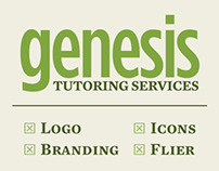 Genesis Tutoring Services – Logo, Flier, and Icon Set