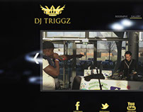 DJ Triggz Website Design