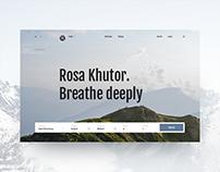 Rosa Khutor website concept