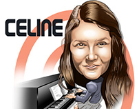 "Caricature of ""Celine"""