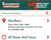 Bunnings Mobile Site