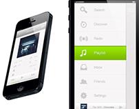 Spotify Mobile UI Re-design