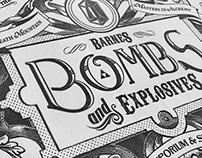 Legend of Zelda Bomb Vintage Ad
