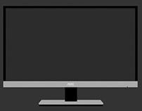 Flat Thin Bezel Monitor PSD