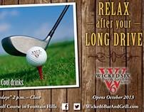 Wicked Six Bar & Grill print ad