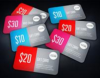 Vertical Business Card Mock-Up + Gift Card Mock-Up