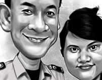 CARICATURE (COUPLE) - BW