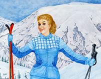 Mountain-skier Masha