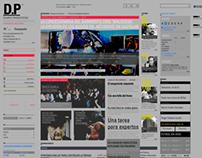 Website Paréntesis newspapper. UBA. F.A.D.U