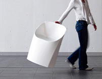 A collapsible chair made of a piece of sheet
