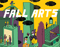 The Village Voice Fall Arts Guide Cover Illustration