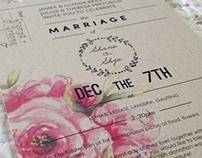 Shane & Skye's Wedding Invitations