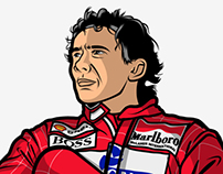 "Ayrton Senna ""Limited Edition"" SilkScreen"