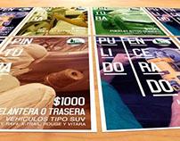"""Advertising posters """"Servicio Los Pinos"""""""