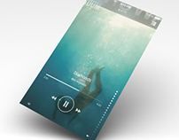iOS7 music player experiment