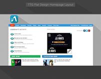 HomePage Flat Design
