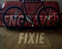 Handmade Engraved Fixed Gear Bike