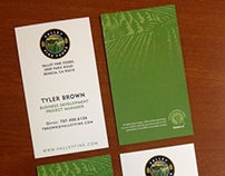 Valley Fine Foods Business Cards