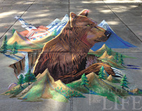 Adam's State University - Old Mose 3D Chalk Art Bear