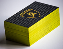 Yellow Lamborghini Business Card
