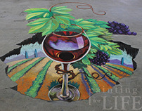 Crested Butte Wine Festival 3D Chalk Art