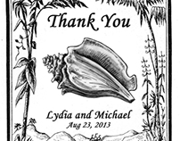 Sea Shell Wedding Cards