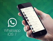 WhatsApp iOS 7 Redesign Concept
