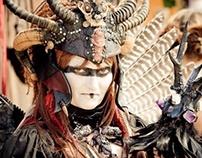 WARRIOR FAE QUEEN - Tribal Fantasy Headdress & Costume