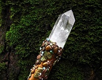 MISTRESS OF THE FOREST Crystal Golden  Staff