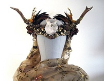 FAERY MODRON Autumn Antler Headdress