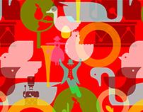 12 Days of Christmas Illustration