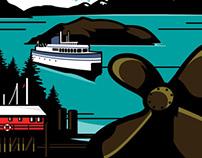 Horseshoe Bay Illustrated Poster