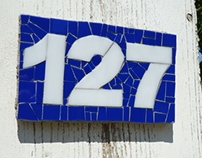 Mosaic House Number